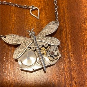 Dragonfly Watchpiece Necklace